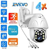 EVKVO 1080P HD Wireless IP Camera Outdoor Speed Dome Camera P2P Cloud CCTV Security Video Surveillance WiFi PTZ Camera Yoosee 1080P 2A 32G Card