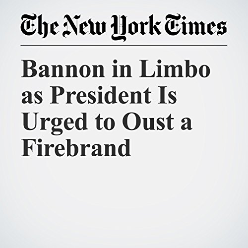 Bannon in Limbo as President Is Urged to Oust a Firebrand copertina