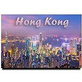 Hong Kong Photo Fridge Magnet Kowloon Travel Souvenir HKSAR China