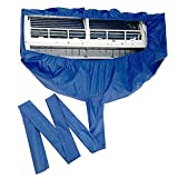 エアコン掃除カバー、エアコン 洗浄 カバー 掃除 シート 壁掛け用 排水 家庭用クリーニング 排水口付き防水ダストクリーンプロテクターバッグカバー
