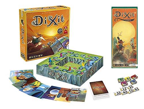 Outletdelocio. Pack Juego de mesa Dixit Clasico + expansion Dixit 4: Origins....