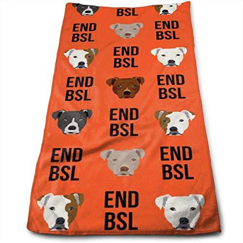 tyutrir Pitbull BSL - Hund, Hunde, Hunderasse, Rettungshund Handtücher Geschirrtuch Floral Leinen Handtücher Super weiches Extra-Saugmittel für Bad, Spa und Fitnessstudio 11,8