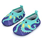 JIASUQI Summer Casual Skin Water Shoes Socks for Baby,Sand Swim Surf Aerobics,Green Octopus 18-24 Months