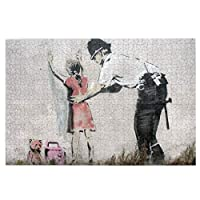 パズル 兵士と少女 Banksy バンクシー 木製パズル ジグソ500/1000ピース 知育パズル アニメパターン 挑戦的な家族教育活動 子供/大人用 萌えグッズ 減圧 初心者向け ギフト プレゼント 娯楽誕生日プレゼント