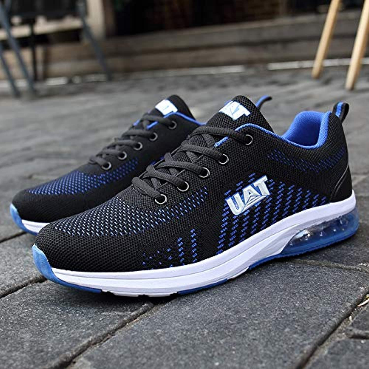 HAWEEL Casual Sports shoes Casual Outdoor Flying Woven Cushion shoes for Men (color Black Grey Size 39)