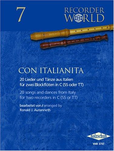 Recorder World: Con Italianita, für Blockflöte