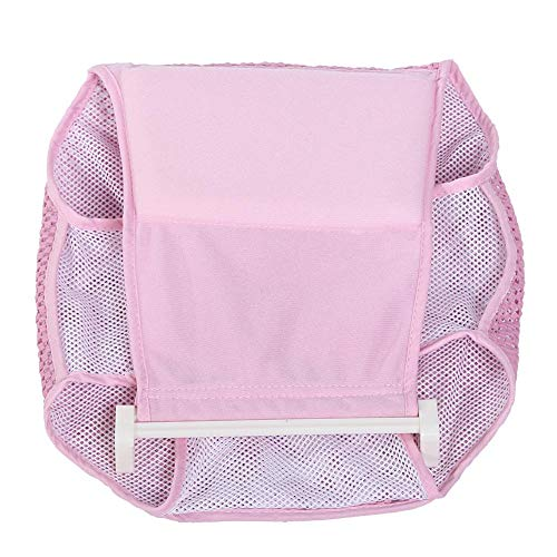 Infant Bathtub Net, Newborn Bath Support Seat Bathtub Sling Shower Mesh Adjustable Baby Cotton Shower Bed for Tub(Pink)