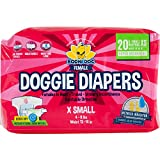Disposable Dog Female Diapers | 20 Premium Quality Adjustable Pet Wraps with...