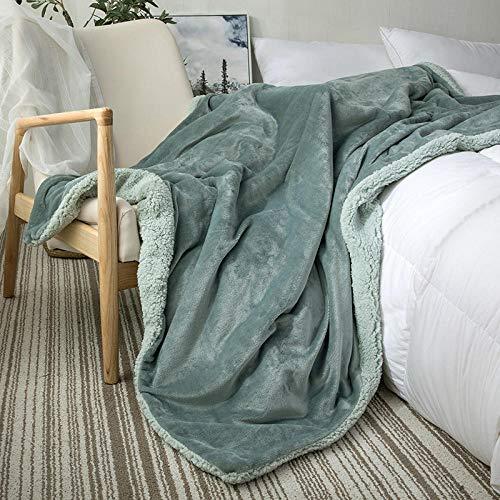 XUMINGLSJ Mantas para Sofás de Franela- Manta para Cama Reversible de 100% Microfibre Extra Suave -Azul_El 120 * 200cm