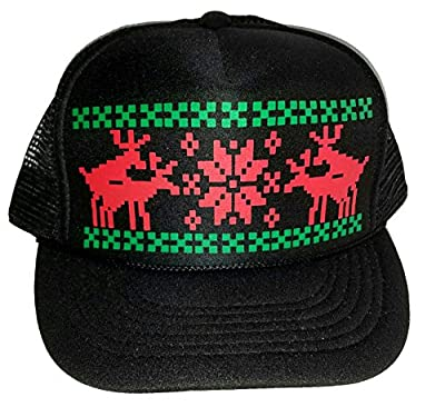 Humping Sex Reindeer Ugly Sweater Mesh Trucker Hat X Mas Christmas Holiday