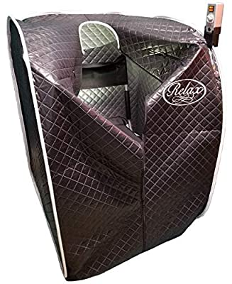 Relax Far Infrared Sauna with Black Tent Upgrade(Thicker Material and More Reflection)