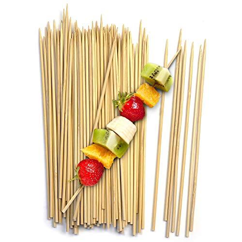 Fit Meal Prep 20,3 cm 25,4 cm Bambusspieße BBQ Sticks Shish Kabob, Fondue, Satay, Outdoor Grilling, Marshmallow, Vorspeisen, Obst, Mais, Schokoladenbrunnen, Cocktail 8 Inch