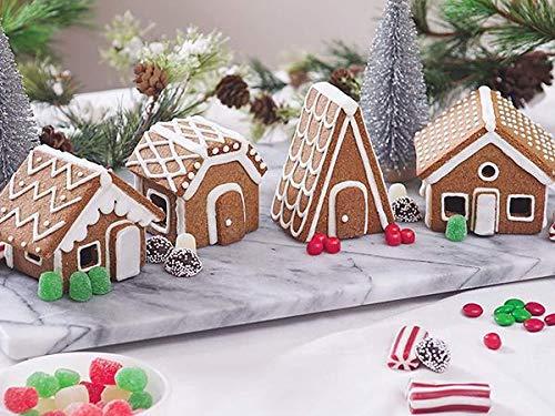 Fox Run Christmas Village Gingerbread House Cookie Cutter Set, 22 Piece, Stainless Steel,48750