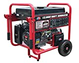 All Power America APGG12000 12000 Watt Portable Generator w/Electric Start Gas Powered, Black/Red