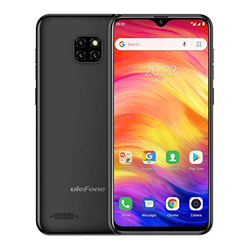 Ulefone Note 7 Unlocked Cell Phones 3G, Unlocked Smartphones Dual Sim Android 9.0 6.1'' 1GB+16GB 8MP Three Camera 3500 Mah Battery Face ID GPS, US Version,No Sprint&Verizon Black