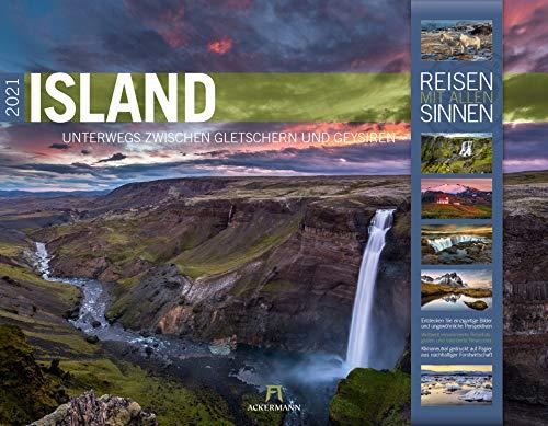 Island Kalender 2021, Wandkalender im Querformat (54x42 cm) - Natur- und Reisekalender