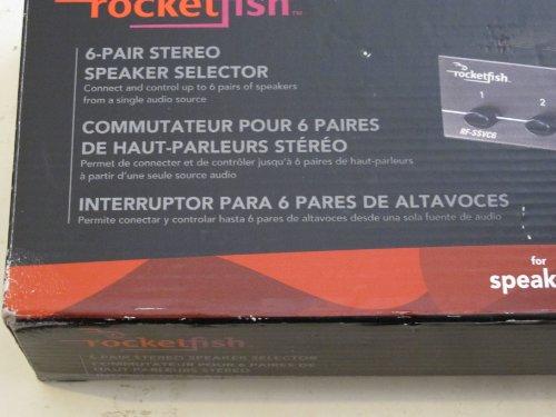 Rocketfish RF-SSVC6 6-Pair Stereo Speaker Selector