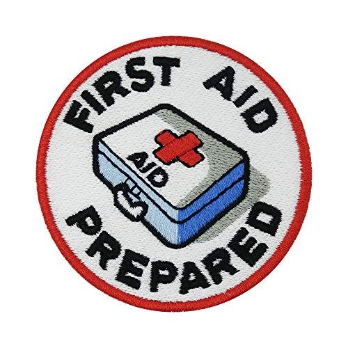 Finally Home Kleiner First Aid Prepared Medic Patch zum Aufbügeln   Rotes Kreuz Patches, Bügelflicken, Flicken, Aufnäher