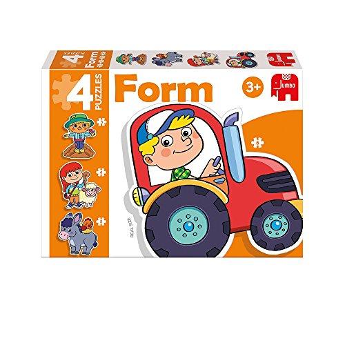 Diset- Granja Puzzle progresivo formas 3-4-5-6 pzas, Multicolor, i (69949) , color/modelo surtido