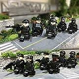 SWAT CAR y 12PC policía Militar Mini Figuras Armas Soldado Ejército Ajuste Juguetes