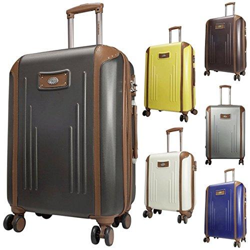 Trolley Dakar in 3misure e 6colori, in policarbonato ABS, rigido, Bowatex, Tessuto, marrone, Large