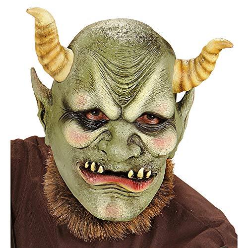 Widmann vd-wdm00410Maske Kopf komplett Ork bösen, grün, Einheitsgröße