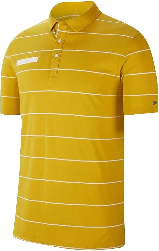 Nike Dry Fit Large-scale sale Player Stripe 55% OFF OLC Sai Golf Saffron Polo Quartz 2019
