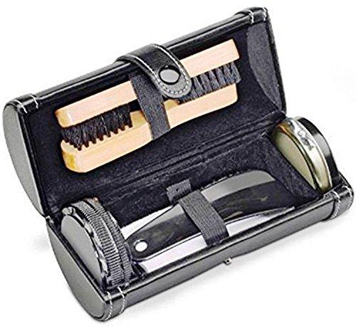 Produits personnalisés Kit de nettoyage à chaussures avec somptueuse trousse de rangement cylindrique