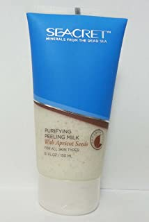Seacret Minerals from the dead sea ( purifying peeling milk ) with apricot seeds for all skin types 5.1 oz--150ml