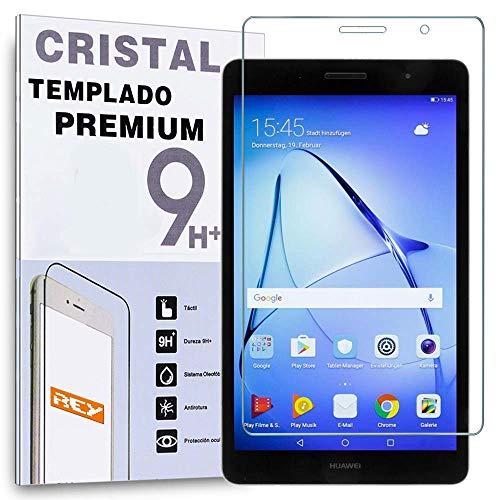 REY Protector de Pantalla para Huawei MEDIAPAD T3 8' / Honor Play Pad 2 8', Cristal Vidrio Templado Premium