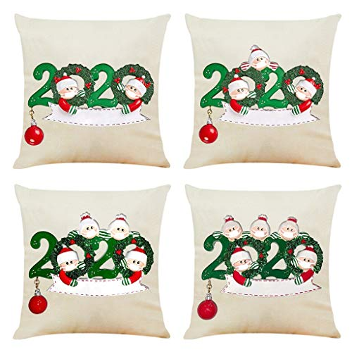 Sucislian Christmas Fall Throw Pillow Covers Cushion Case 18X18 Inch for Home Decor Sofa, Bed and Car,Living Room PillowCase