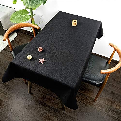 YOUYUANF - Mantel rectangular de plástico, mantel impermeable, algodón y lino, mantel rectangular, mesa de comedor antifouling jardín, picnic, 140 x 100 cm