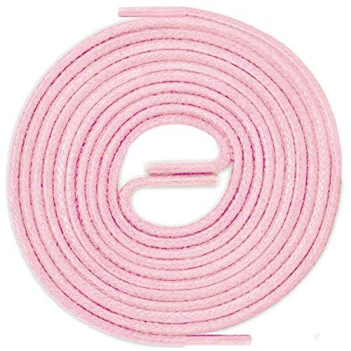 LACCICO Finest Waxed Laces® Durchmesser 2 mm Runde Dünne Elegante Gewachste Schnürsenkel Farbe: Rosa Länge: 90 cm