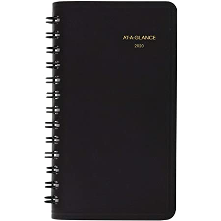 Amazon Com At A Glance 2020 Weekly Pocket Planner 2 1 2 X 4 1 2 Pocket Calendar Unruled Black 7003505 700350520 Office Products