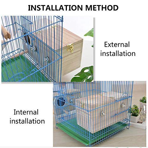 Tfwadmx Parakeet Nesting Box, Bird Nest Breeding Box Cage Wood House for Finch Lovebirds Cockatiel Budgie Conure Parrot, 8'' X 5'' X 5''