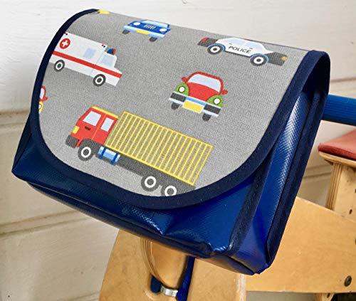 Lenkertasche, wasserdicht von TITA BERLIN, Laufrad, Kinderrad. Lenkertasche Jungs, Krankenwagen, Polizei