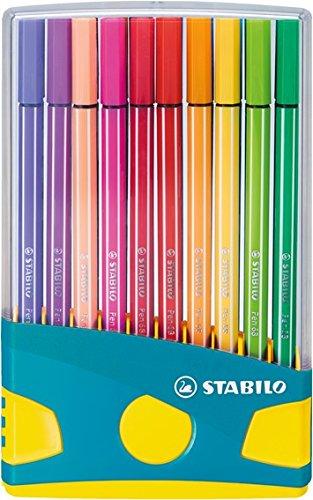 Stabilo Pen 68 Colorparade Turquoise de 20 feutres coloris assortis