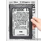 3X Large Hands-Free Magnifying Glass Full-Page Magnifier LED Lighted Illuminated Foldable Desktop Portable for Elder Kids