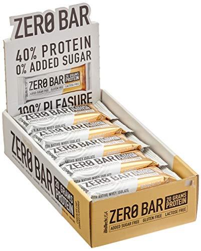BiotechUSA ZERO Bar 20*50g Schoko-Chip Cookies - Eines der besten Proteinriegel - 45{df4077bf5d8ed5e9b9be3d4b22191aa942c2ce50671e061ea38206f91f90a37e} Protein, 0{df4077bf5d8ed5e9b9be3d4b22191aa942c2ce50671e061ea38206f91f90a37e} Zucker, Laktosefrei, Glutenfrei. Sportriegel mit Stevia. …