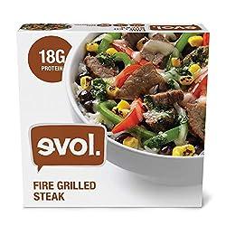 EVOL Fire Grilled Steak, Single Serve, Gluten Free, 18 Grams of Protein Per Serving, 9 Ounce (Frozen