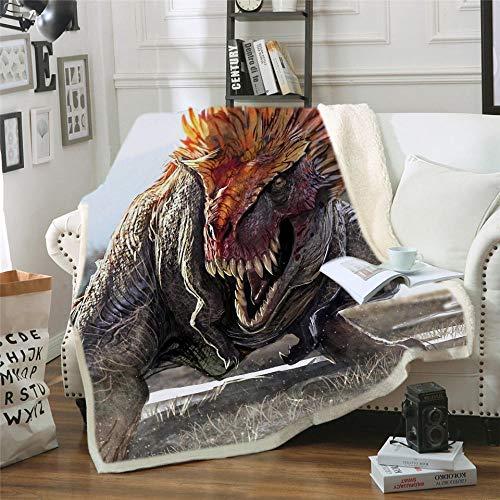 HYSGYP Mantas para Cama Juego de Tronos Dragon Printing Sherpa Throw Blanket Soft Plush Fleece Thicken Warm Sofá Manta portátil de Viaje (A) 150 * 200 CM