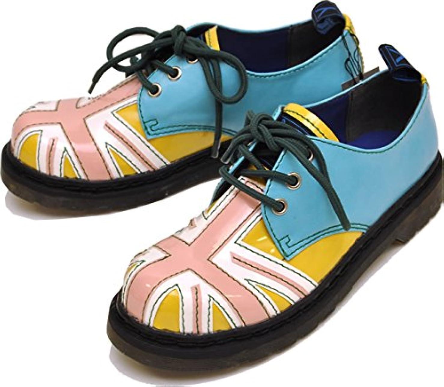 不利許可する飽和するYOSUKE U.S.A ヨースケ 靴 レースアップシューズ ユニオンジャック おでこ靴 ゴスロリ コスプレ ロック パンク