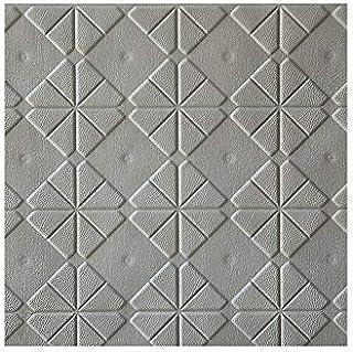 Papel tapiz autoadhesivo de espuma de PE con diseño de ladrillo 3D Estilo moderno a prueba de agua para la sala de estar Fondo de dormitorio Decoración de la pared - Gris claro
