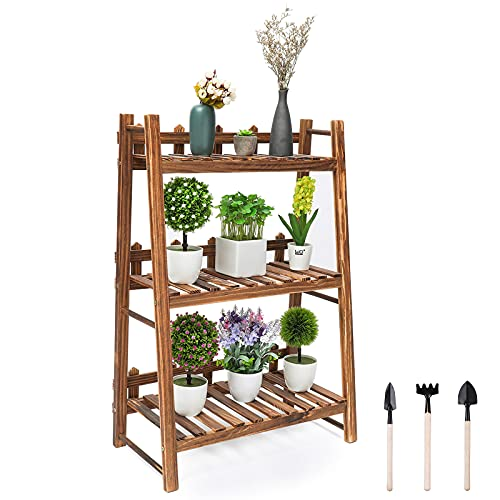 Plant StandWooden Bonsai Stand Plant Display Rack Storage Shelf Household...