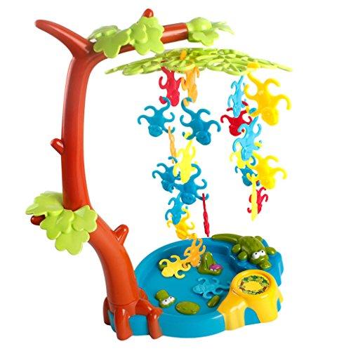 Sharplace Juegos de Equilibrio de Mono de Plásticos Juguetes Interactivos de Diversión para Niños