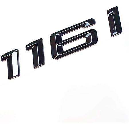 Mck Auto 118d Schwarz Glänzend Hecklogo Hinten Emblem Tuning Für E81 E82 E87 E88 F20 F21 F40 Auto