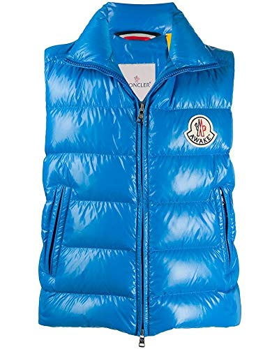 Luxury Fashion | Moncler Heren 1A501106895073R Blauw Polyester Gilets | Lente-zomer 20