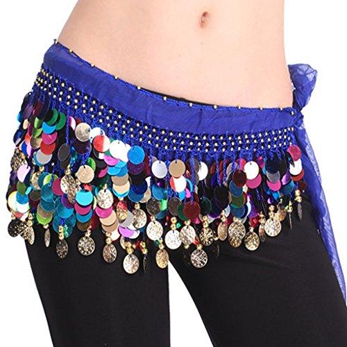 Pañuelo para la cintura Best Dance, de danza del vientre, varios colores, con cuentas