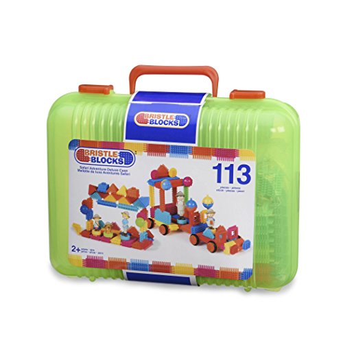 Bristle Blocks by Battat – The Official Bristle Blocks – 113 Pieces in a Carry Case – Creativity Building Toys for Dexterity and Fine Motricity – Bpa Free 2 Years + (3101Z)