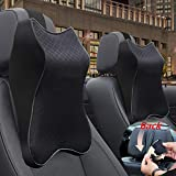 Car Seat Headrest Neck Rest Cushion, Car Neck Pillow Durable 100% Pure Memory Foam Neck Pillow with Breathable Removable Cover, Comfortable Ergonomic & Neck Pain Relief(14.17x11.8x3.9 in)